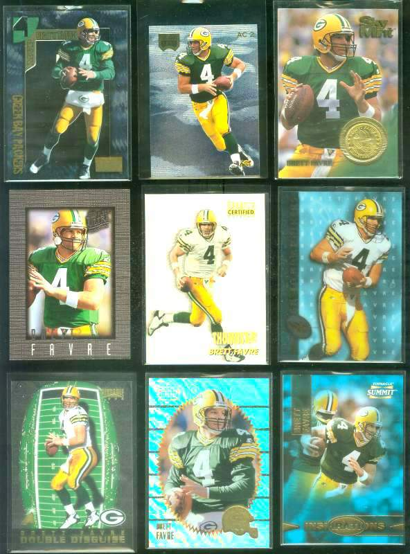 1996 Select Certified 'Thumbs Up' #7 Brett Favre Football cards value