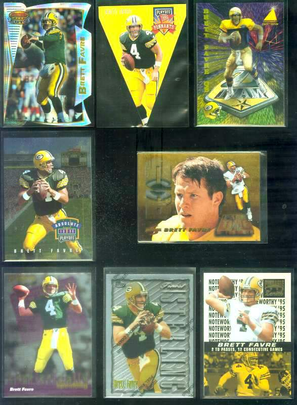 1995 Zenith 'Z-Team' #ZT9 Brett Favre Baseball cards value