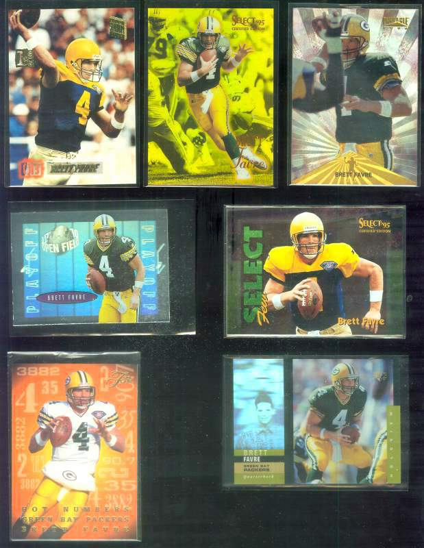 1996 Playoff Contenders 'Open Field' #1 Brett Favre FOIL Football cards value