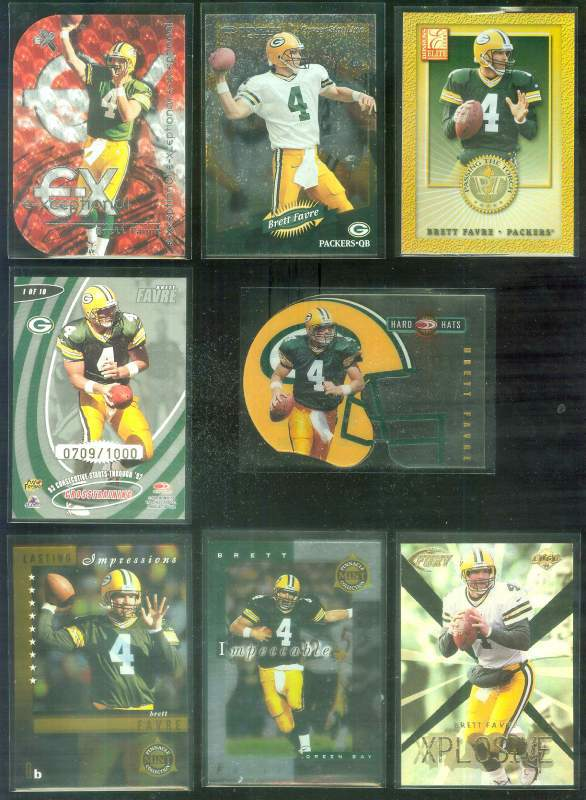 1999 Donruss Preferred QBC 'Hard Hats' #1 Brett Favre Football cards value