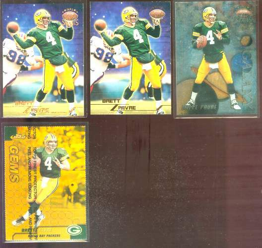 1999 Finest #126 Brett Favre GOLD REFRACTOR Football cards value