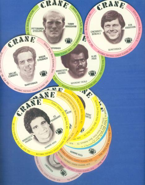 1976 Crane FB Discs  - NEAR COMPLETE SET (29 of 30 Discs) Football cards value