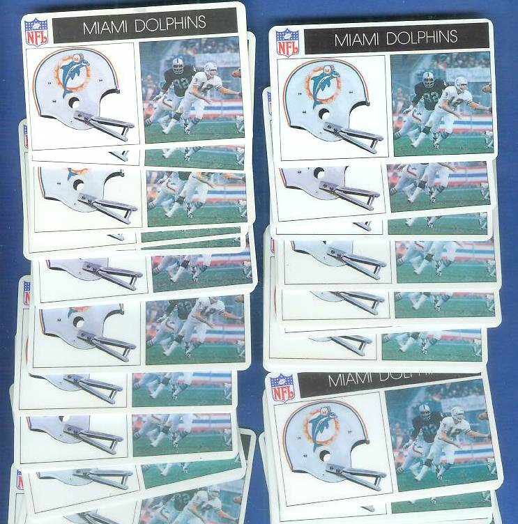 1976 Popsicle - Miami DOLPHINS (Bob Griese) WHOLESALE Lot of (100) Football cards value