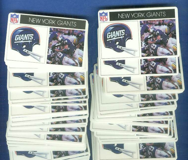 1976 Popsicle - NY GIANTS (SCARCER 'NY' on helmet) WHOLESALE Lot (10) Football cards value