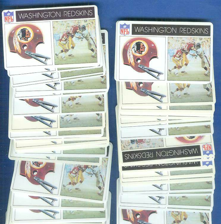1976 Popsicle - Washington REDSKINS WHOLESALE Lot of (100) Football cards value