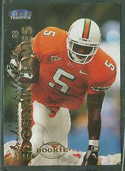 1999 Fleer Tradition #277 Edgerrin James ROOKIE Football cards value