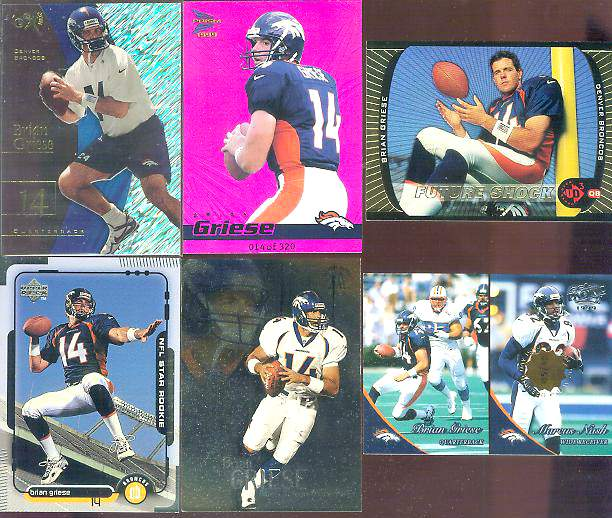 1999 Pacific 'Opening Day' #132 Brian Griese/Marcus Nash Football cards value
