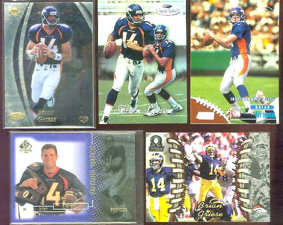 1998 SP Authentic #11 Brian Griese ROOKIE Football cards value