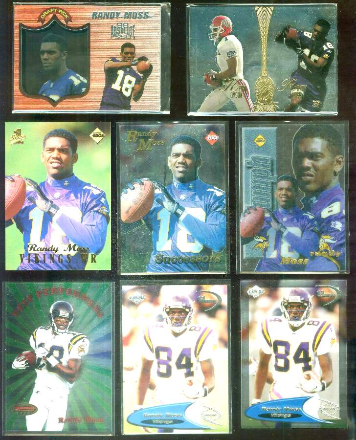 1998 Bowman's Best 'Best Performers' #BP5 Randy Moss ROOKIE Football cards value
