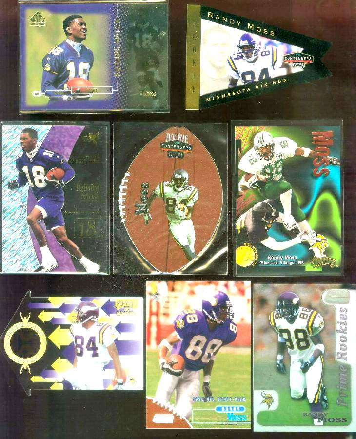 1998 Playoff Contenders 'Leather' #52 Randy Moss ROOKIE Football cards value