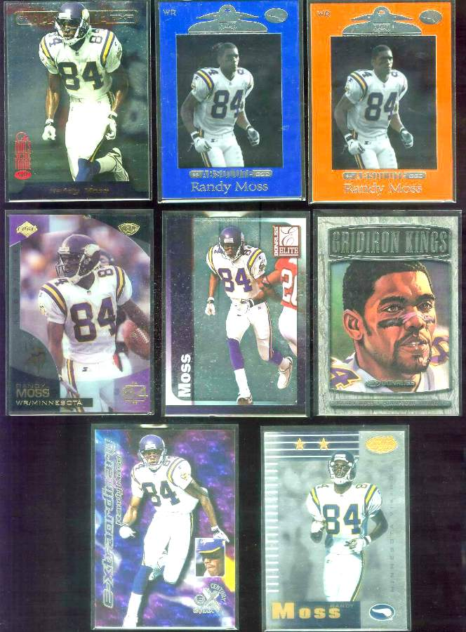 1998 Topps Stars #66 Randy Moss ROOKIE [RED] Football cards value