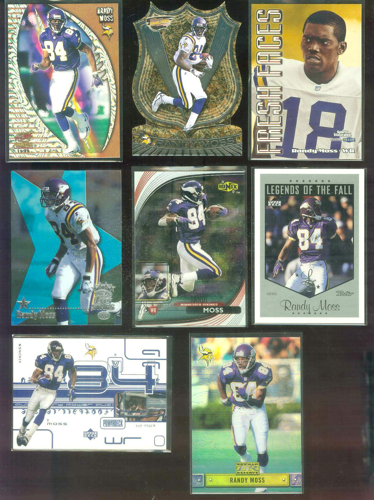 1999 Topps Stars #3 Randy Moss FOIL parallel Football cards value