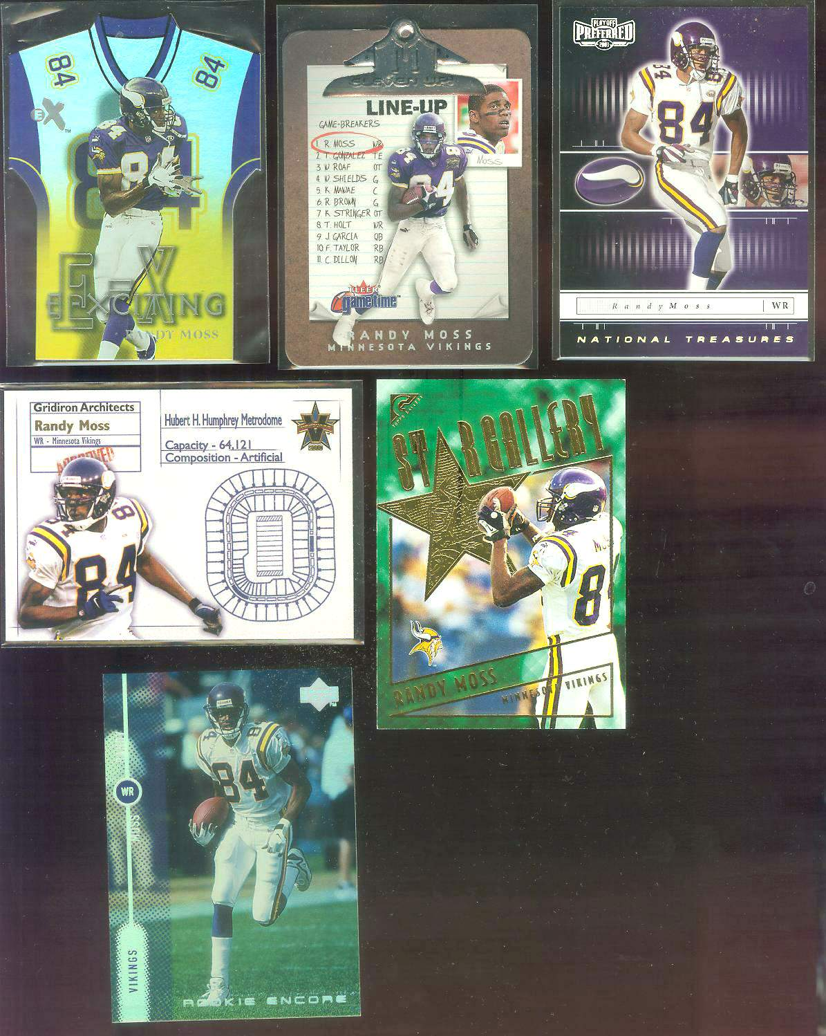 2000 Bowman Reserve #60 Randy Moss Football cards value