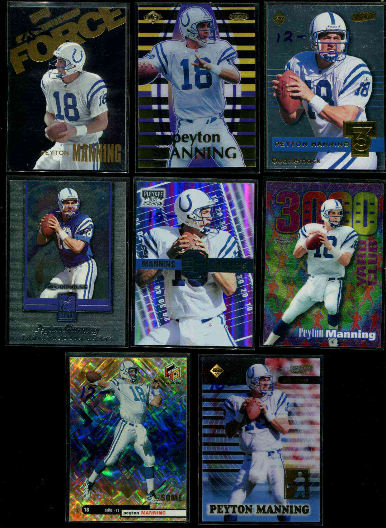 1999 Absolute SSD Force #AF13 Peyton Manning Baseball cards value