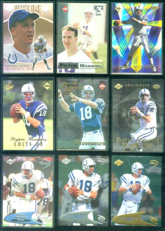 1998 Odyssey 'Leading Edge' #13 Peyton Manning ROOKIE year Baseball cards value