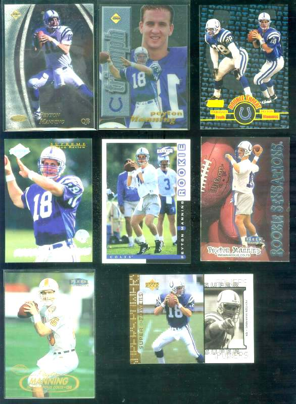 1998 Score 233 Peyton Manning ROOKIE Football cards value