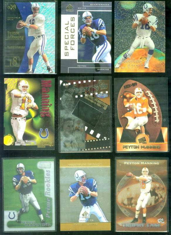 1998 Stadium Club 'Prime Rookies' #PR10 Peyton Manning ROOKIE Football cards value