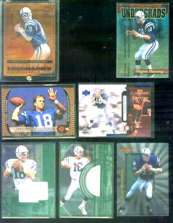 1998 SPx Finite #287 Peyton Manning ROOKIE Football cards value