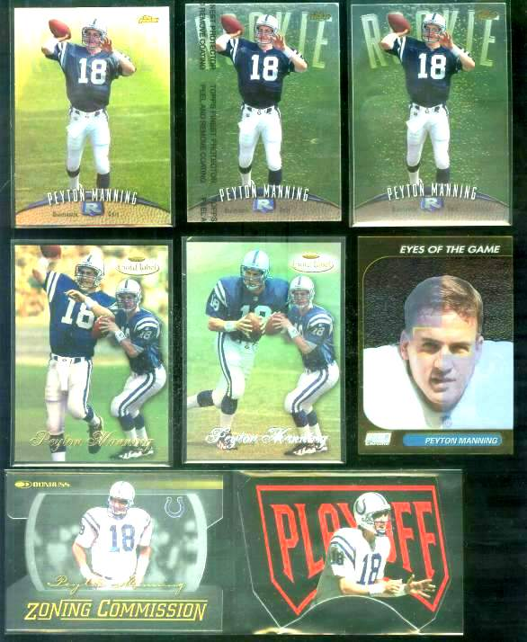 1998 Finest #121 Peyton Manning ROOKIE (protective film intact) Football cards value