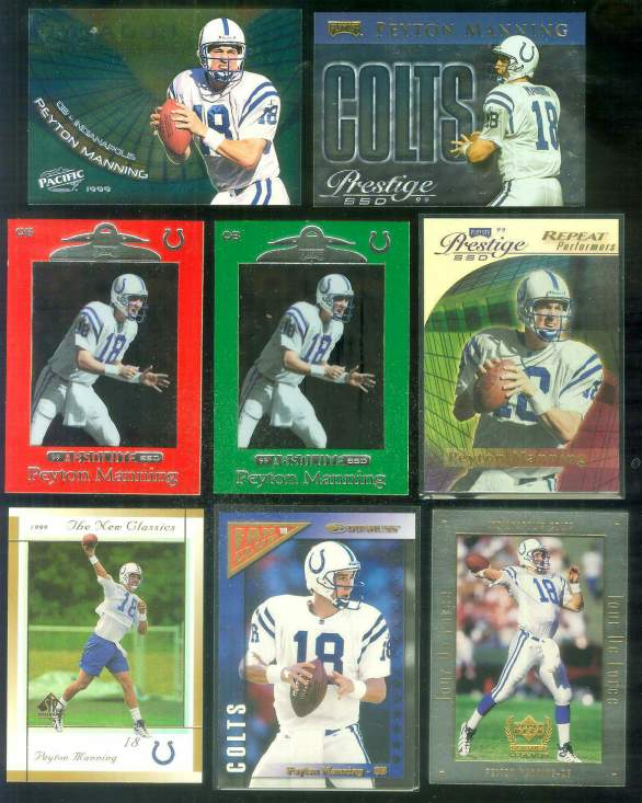 1999 SP Authentic 'New Classics' #NC4 Peyton Manning Football cards value