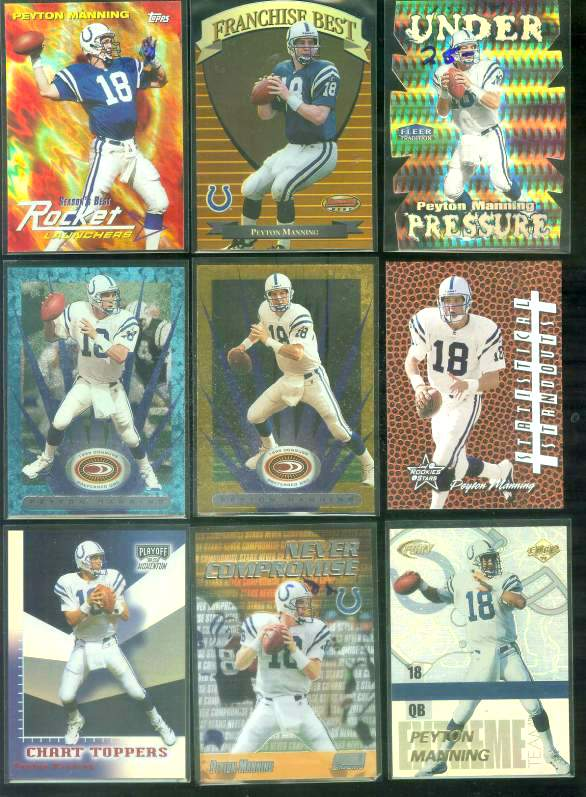 1999 Playoff Momentum SSD 'Chart Toppers' #CT14 Peyton Manning Football cards value