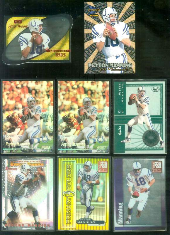1999 Absolute SSD 'Heroes RED' #HE18 Peyton Manning Football cards value