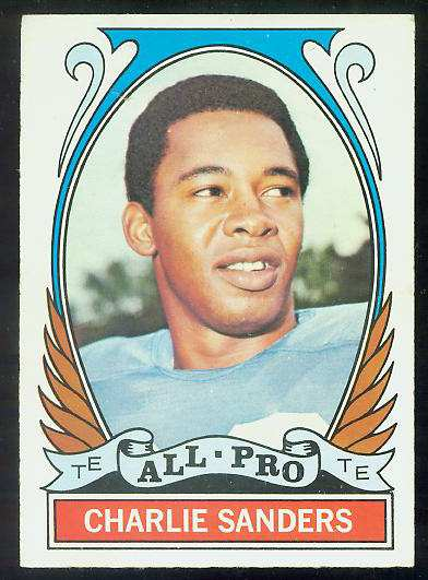 1972 Topps FB #264 Charlie Sanders [#a] VERY SCARCE SHORT PRINT (Lions) Football cards value