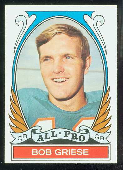 1972 Topps FB #272 Bob Griese VERY SCARCE SHORT PRINT (Dolphins) Football cards value