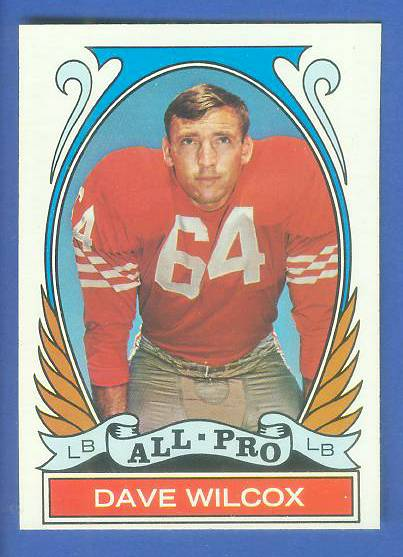 1972 Topps FB #282 Dave Wilcox [#b] VERY SCARCE SHORT PRINT (49ers) Football cards value