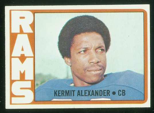 1972 Topps FB #289 Kermit Alexander VERY SCARCE SHORT PRINT (Rams) Football cards value