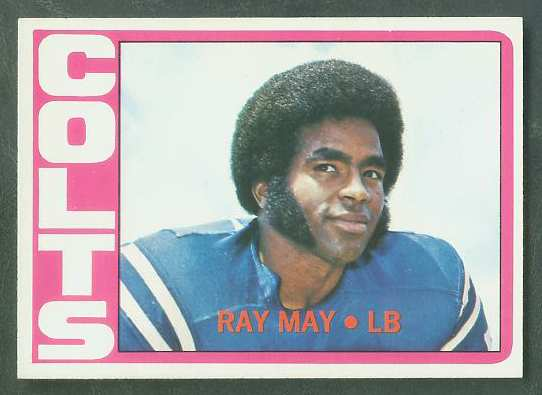 1972 Topps FB #297 Ray May ROOKIE VERY SCARCE SHORT PRINT (Colts) Football cards value