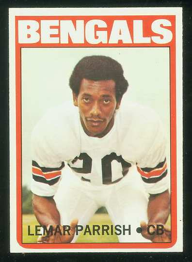 1972 Topps FB #307 Lemar Parrish VERY SCARCE SHORT PRINT (Bengals) Football cards value