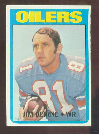 1972 Topps FB #313 Jim Beirne VERY SCARCE SHORT PRINT (Oilers) Football cards value