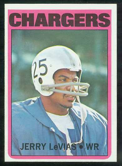 1972 Topps FB #317 Jerry Levias [#a] VERY SCARCE SHORT PRINT (Chargers) Football cards value