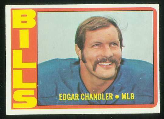 1972 Topps FB #319 Edgar Chandler VERY SCARCE SHORT PRINT (Bills) Football cards value