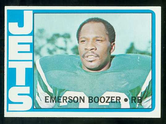1972 Topps FB #322 Emerson Boozer [#a] VERY SCARCE SHORT PRINT (Jets) Football cards value