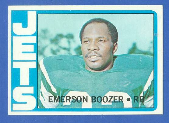 1972 Topps FB #322 Emerson Boozer [#b] VERY SCARCE SHORT PRINT (Jets) Football cards value