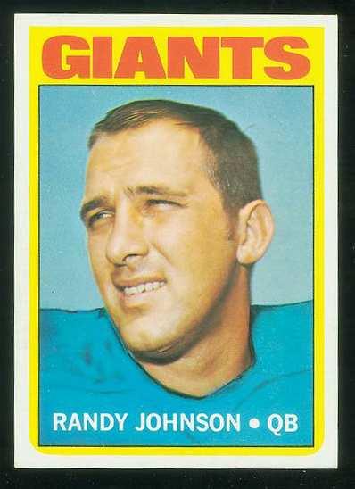 1972 Topps FB #325 Randy Johnson VERY SCARCE SHORT PRINT (Giants) Football cards value