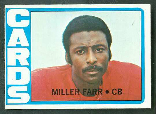 1972 Topps FB #327 Miller Farr [#a] VERY SCARCE SHORT PRINT (Cardinals) Football cards value