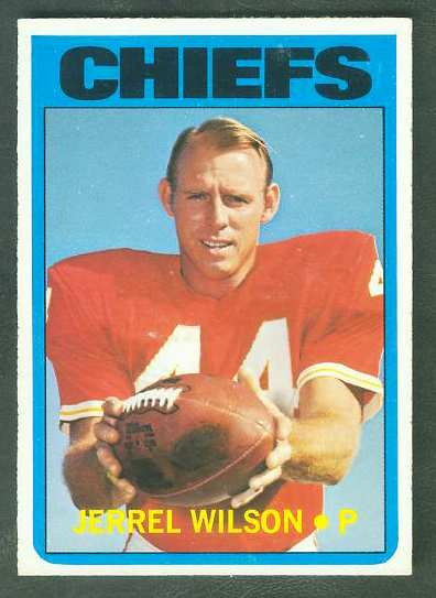 1972 Topps FB #333 Jerrel Wilson VERY SCARCE SHORT PRINT (Chiefs) Football cards value