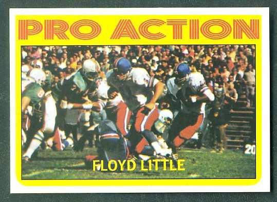 1972 Topps FB #339 Floyd Little IA VERY SCARE SHORT PRINT (Chiefs) Football cards value