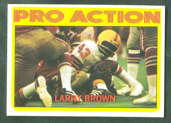 1972 Topps FB #342 Larry Brown IA VERY SCARE SHORT PRINT (Redskins) Football cards value