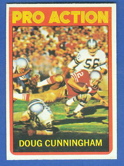 1972 Topps FB #345 Doug Cunningham IA [#b] VERY SCARE SHORT PRINT (49ers) Football cards value