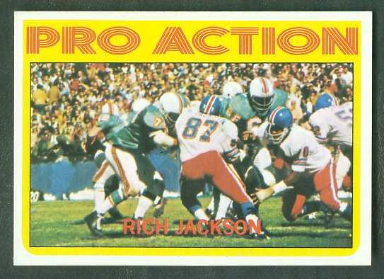 1972 Topps FB #350 Rich Jackson IA [#a] VERY SCARE SHORT PRINT (Broncos) Football cards value