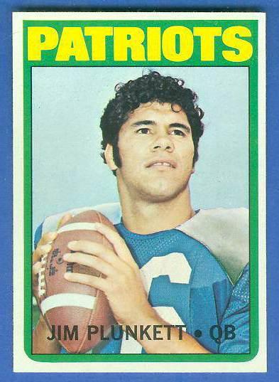 1972 Topps FB #.65 Jim Plunkett ROOKIE [#b] (Patriots) Football cards value