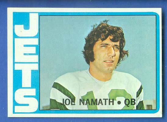 1972 Topps FB #100 Joe Namath [#a] (Jets) Football cards value