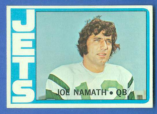 1972 Topps FB #100 Joe Namath [#b] (Jets) Football cards value