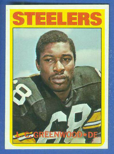 1972 Topps FB #101 L.C. Greenwood ROOKIE [#a] (Steelers) Football cards value