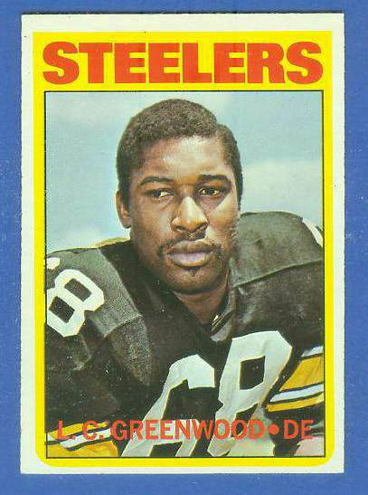 1972 Topps FB #101 L.C. Greenwood ROOKIE [#b] (Steelers) Football cards value