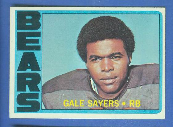 1972 Topps FB #110 Gale Sayers [#b] (Bears) Football cards value
